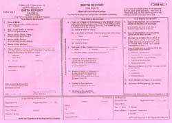Birth Certificate Format
