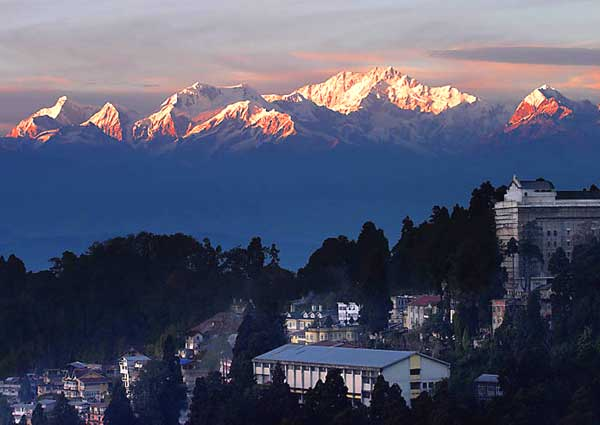 A view of Kanchenjunga