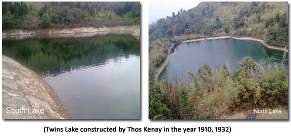 Twins Lake constructed by Thos Kenay in the year 1910, 1932